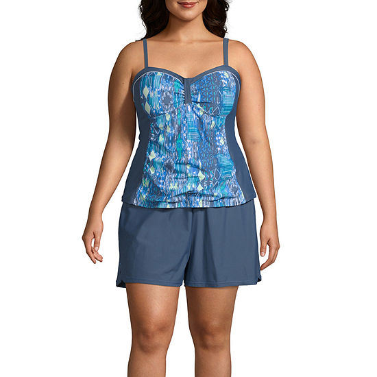 Free Country Tankini Swimsuit Top or Swimsuit Bottom-Plus
