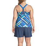 Free Country Stripe Tankini Swimsuit Top or Swimsuit Bottom-Plus