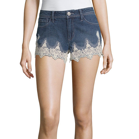 "Almost Famous Womens High Waisted 2 1/2"" Denim Short-Juniors"