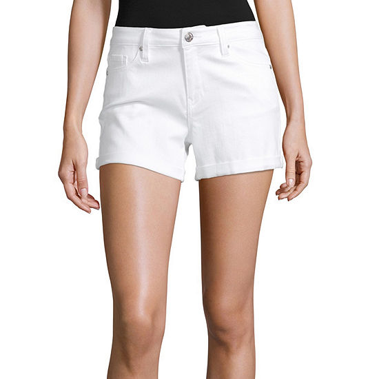 Almost Famous Womens High Waisted Midi Short-Juniors