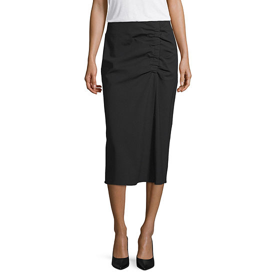 Worthington Womens Midi Pencil Skirt