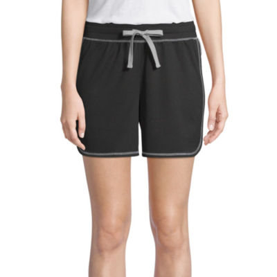 "St. John's Bay Active Color Block Womens 6 1/2"" Workout Shorts"