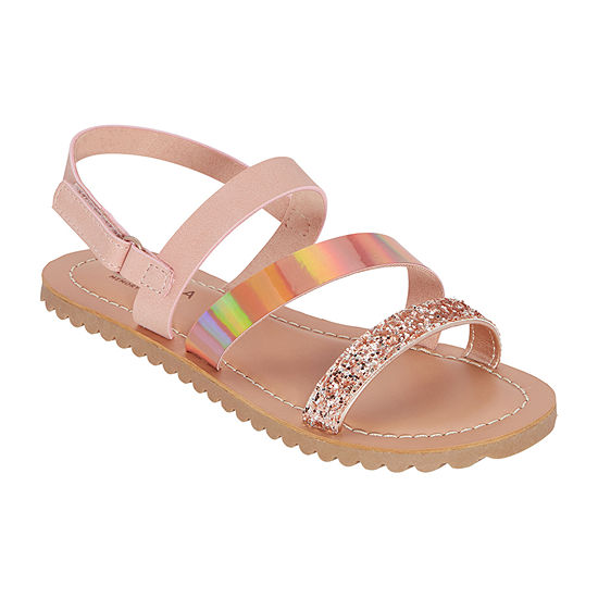 Arizona Girls Adelaide Slingback Strap Flat Sandals