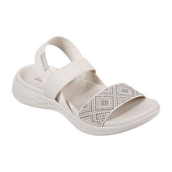 Skechers On-The-Go 600 Glitzy Womens Footbed Sandals