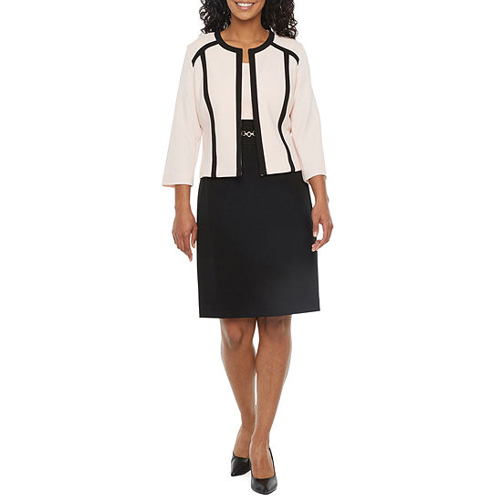 Studio 1-Petite 3/4 Sleeve Jacket Dress
