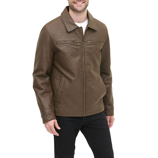 Dockers Faux Leather Midweight Bomber Jacket - Big and Tall