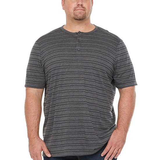 Msx By Michael Strahan-Big and Tall Mens Short Sleeve Breathable Henley Shirt