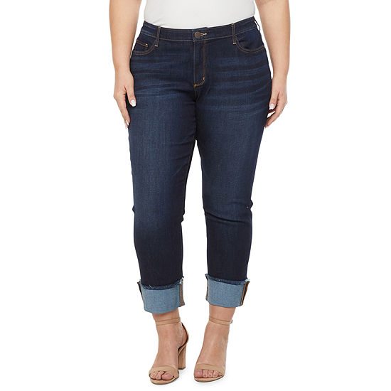 a.n.a - Plus Womens Mid Rise Straight Leg Jean
