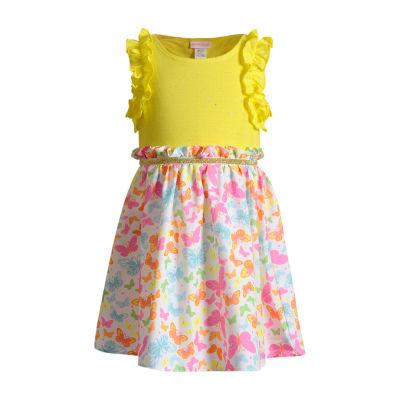 Youngland Toddler Girls Sleeveless Peasant Dress