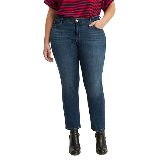 Levi's - Plus Womens Mid Rise 711 Skinny Fit Ankle Jean