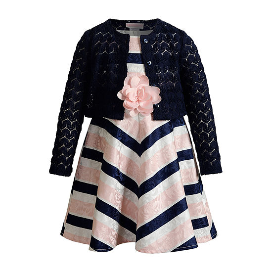 Youngland Toddler Girls Sleeveless Midi 2-pc. Dress Set