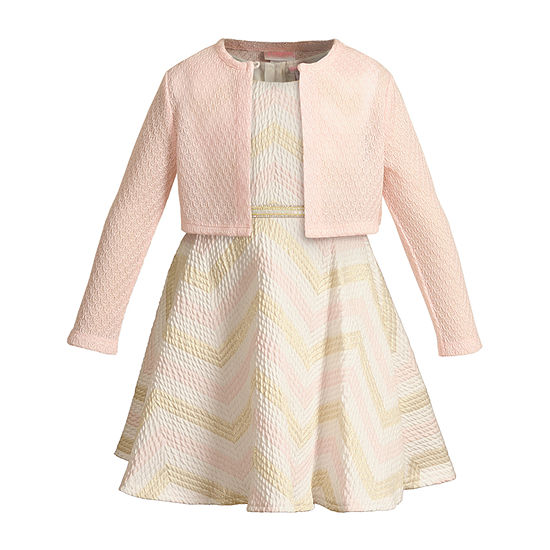 Sweetheart Rose Toddler Girls Sleeveless Midi 2-pc. Dress Set