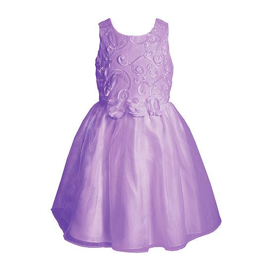 Youngland Toddler Girls Sleeveless A-Line Dress