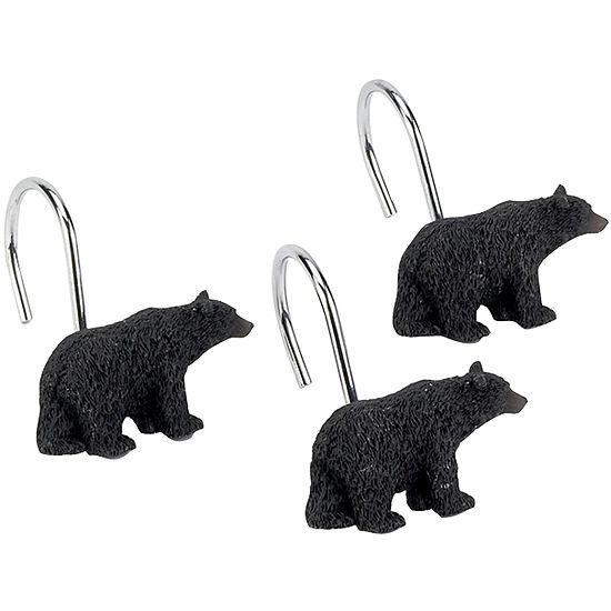 Avanti Black Bear Lodge Shower Curtain Hooks