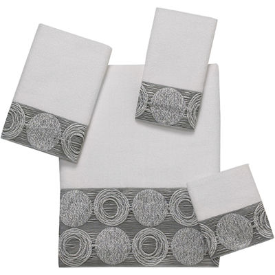 Avanti Galaxy Silver Bath Towels