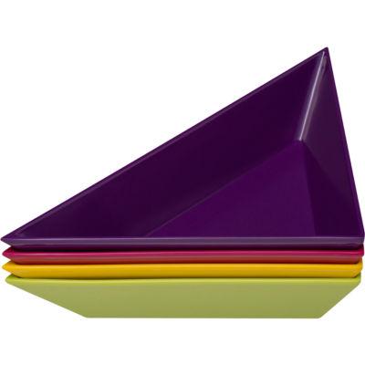 Zak Designs® 4-pc.Triangle Plastic Snack Dishes