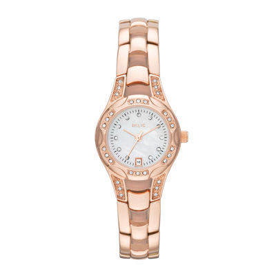Relic® Charlotte Womens Stainless Steel Rose Gold-Tone Watch ZR12067
