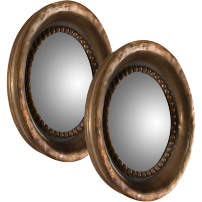 Tropea Set of 2 Round Decorative Wall Mirrors