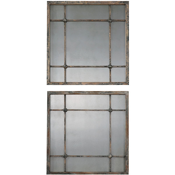 Saragano Square Set of 2 Decorative Wall Mirrors