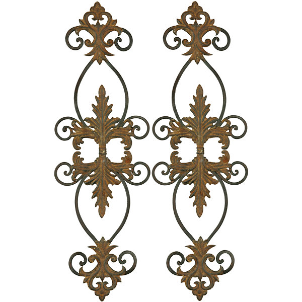 Lacole Set of 2 Iron Metal Wall Decor