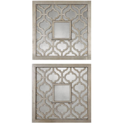 Sorbolo Set of 2 Decorative Square Wall Mirrors