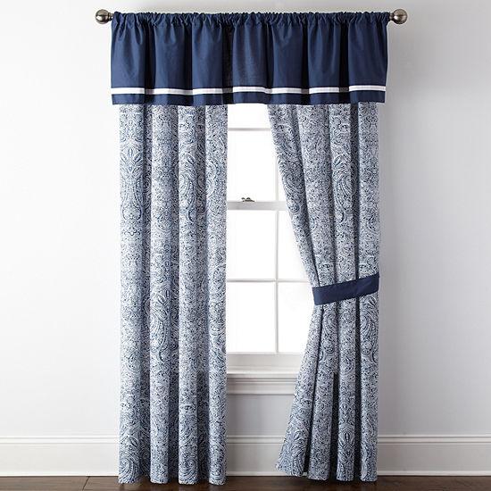Liz Claiborne Rod-Pocket Set of 2 Curtain Panel