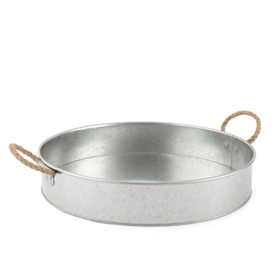 JCPenney Home™ Galvanized Iron Round Serving Tray