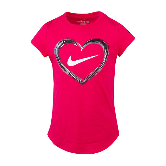 Nike Girls Crew Neck Short Sleeve Graphic T-Shirt Preschool