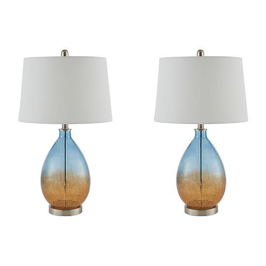 510 Design Cortina Set Of 2-pc Glass Table Lamp