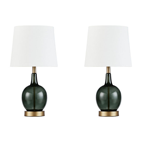 510 Design Summit Set Of 2-pc Glass Table Lamp