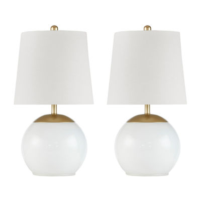 510 Design Terrene Set Of 2-pc Glass Table Lamp