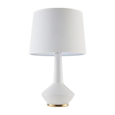 Madison Park Asheville White Ceramic Table Lamp