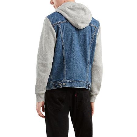 Levi's Men's Hooded Trucker Jacket, X-small , Blue