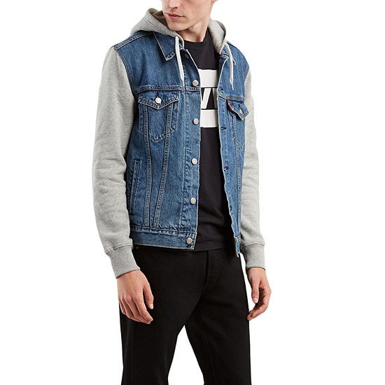 e970be5cf Levi's® Hooded Trucker Jacket, Color: Hood Up - JCPenney