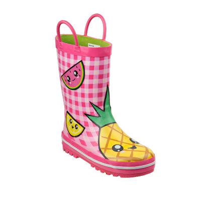Laura Ashley Girls Water Resistant Waterproof Pull on Rain Boots