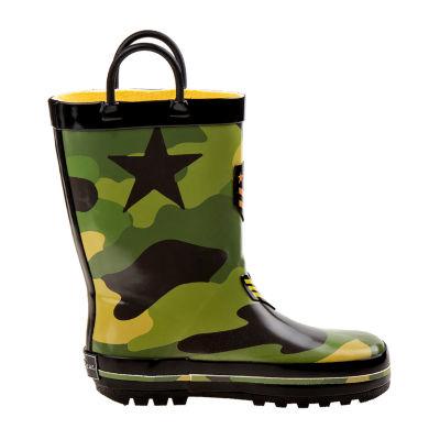 Rugged Bear Waterproof Pull-on Rain Boots - Toddler Boys
