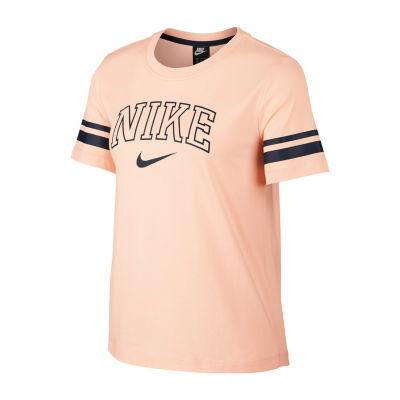 Nike-Womens Crew Neck Short Sleeve T-Shirt