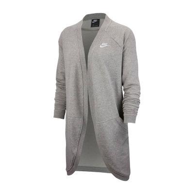 Nike Womens Crew Neck Long Sleeve Cardigan