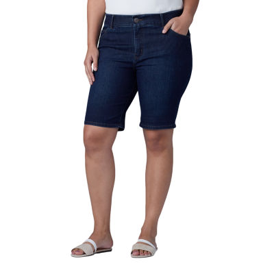 "Lee Denim Bermuda Womens Mid Rise 10"" Bermuda Short-Plus"