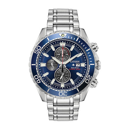 Citizen Mens Chronograph Silver Tone Stainless Steel Bracelet Watch - Ca0710-58l, One Size