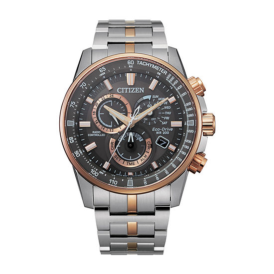 Citizen Mens Chronograph Two Tone Stainless Steel Bracelet Watch-Cb5886-58h