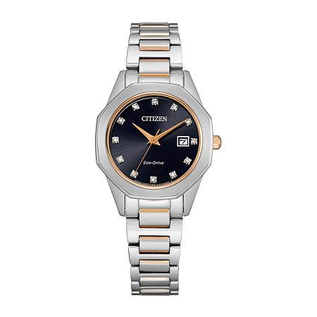 Citizen Corso Womens Diamond Accent Two Tone Stainless Steel Bracelet Watch - Ew2586-58e, One Size