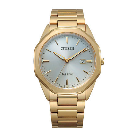 Citizen Corso Mens Gold Tone Stainless Steel Bracelet Watch - Bm7492-57a, One Size