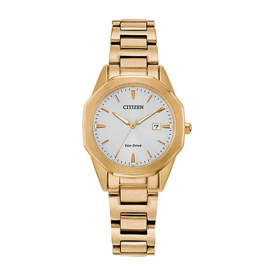 Citizen Corso Womens Gold Tone Stainless Steel Bracelet Watch - Ew2582-59a