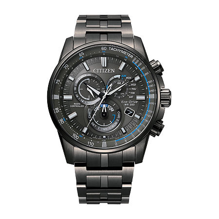 Citizen Mens Chronograph Gray Stainless Steel Bracelet Watch - Cb5887-55h, One Size
