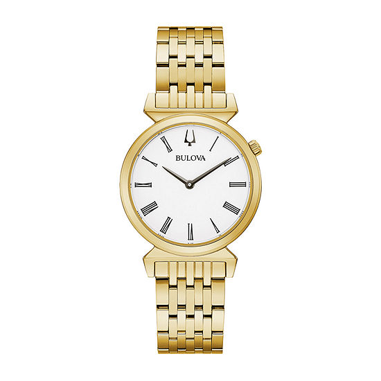 Bulova Regatta Womens Gold Tone Stainless Steel Bracelet Watch-97l161