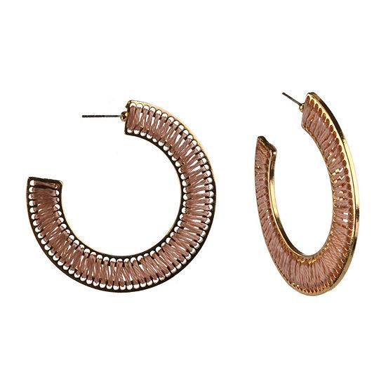 Bijoux Bar Threaded Hoop Earrings