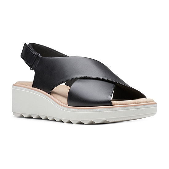 Clarks Womens Jillian Jewel Wedge Sandals