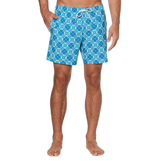 Cubavera Floral Print Swim Trunks