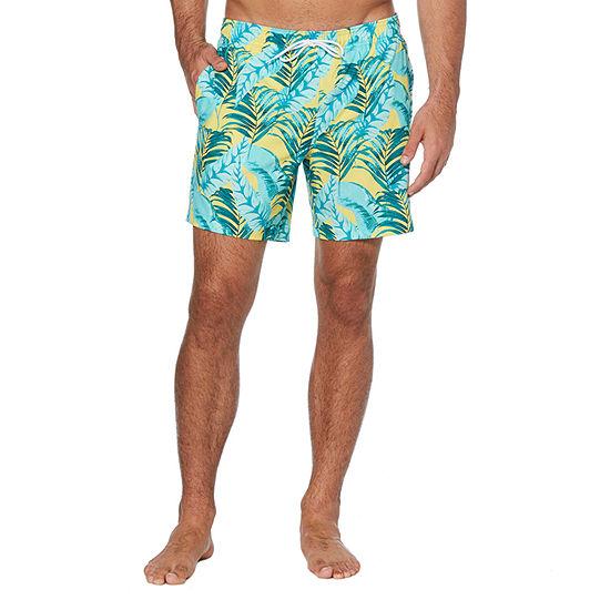 Cubavera Print Swim Trunks